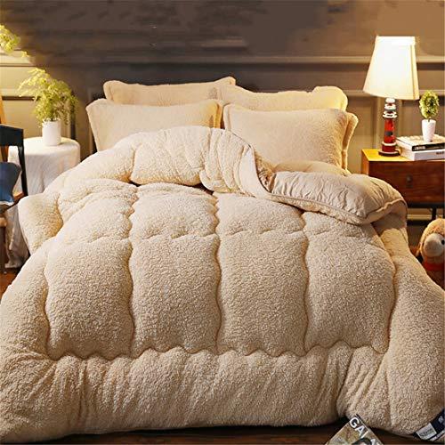 TIUTIU Bettdecke, Mikrofaser Steppdecke - Baumwolle Dicke Warme Winterdecke Winterwarme Lammfelldecke Dicke Daunendecke Aus Korallenvlieswolle (3,180 * 220cm - 3kg)