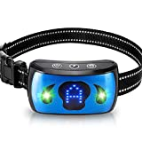 Rechargeable Bark Collar for Dogs - Professional 4 Adjustable Sensitivity Control + 3