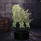 Luz de noche de 3D para niños LED Luz de Noche Elves lámpara de escritorio creativa para cumpleaños Con interfaz USB, cambio de color colorido