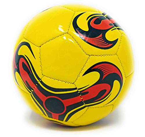 TANMAN TOYS Inflatable Mini Football Size-2 for Kids to Play at Home, Garden and Beach, 14 cm Diameter, Assorted Colors