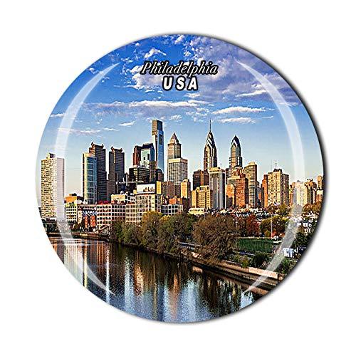 Imán de cristal de Philadelphia en 3D para nevera, recuerdo de viaje, colección de regalo, decoración para el hogar y la cocina