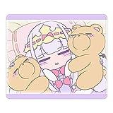 魔王城でおやすみ でびあくま スヤリス姫 アニメ マウスパッド TCG万能プレイマット 天然ゴム 滑り止め 防水 24*20cm