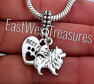Pomeranian Eskimo Dog chow Chow Keeshond Dog Charm Bracelet, Necklace, Keychain, Jewelry gift for all ages