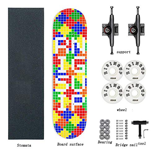 Beginner Adolescent Children Boys and Girls Highway Brush Street Four-wheeled Double Axle Skateboard Professional