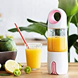 Juicer - Máquina de leche de soja para el hogar (pequeña, portátil, totalmente automática) Blanco y rosa.