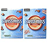 Swiss Miss Hot Cocoa K Cups Variety Pack of 2 Flavors - Milk Chocolate and Peppermint - 44 K Cups Total - 22 K Cups Per Flavor - For Use in Keurig Coffee Makers