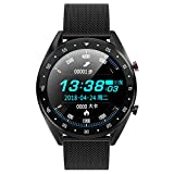 mijiaowatch L7 Smart Watch, Fitness Tracker Watch with IP68 Waterproof Sport Smart Watches Compatible with iOS&Android (Black)