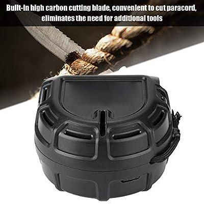 Bnineteenteam Paracord Dispenser Rope Dispenser with Belt Clip for Outdoor Activities(Black)