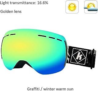 4c6f3d867c ZY Gafas de esquí Snowboard Espejo de Nieve, niños y niñas Adultos  antiniebla Dobles Que