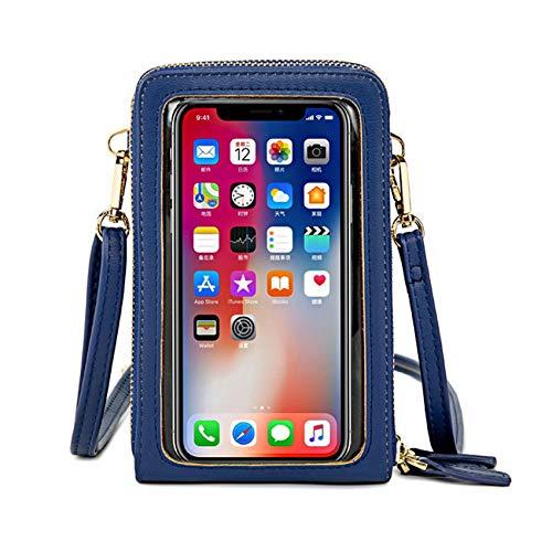 IOOI Bolso bandolera para mujer, para pantalla táctil, resistente al agua, bolso de mano, de piel, para mujer, cartera, retro, para iPhone 11 Pro/11/XS