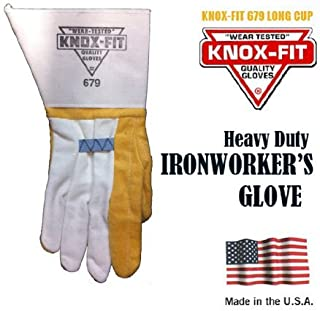 Knox-Fit 679M Gloves Ironworkers Gloves 12 Pairs. Size - Medium. Made in U.S.A. by Knoxville Gloves