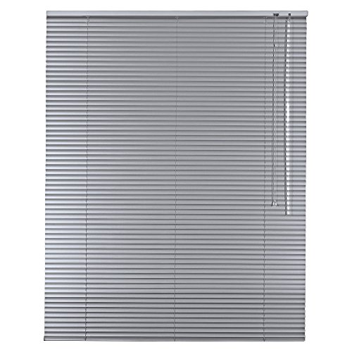 Alu Jalousie Aluminium Jalousette in Farbe Silber - Breite 40 bis 240 cm - Höhe 130/175 / 220 cm - Tür Fenster Rollo Jalousette Aluminium Fensterjalousie Lamellen Metall (180 x 175 cm)