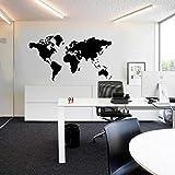 Amlaiworld Mappa del Mondo Rimovibile Parete vinilica Adesivo per Casa Ufficio