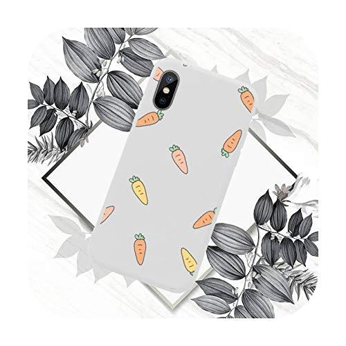 Lindo Carrot Funda de teléfono de color caramelo para iPhone 11 12 mini Pro XS MAX 8 7 6 6S Plus X SE 2020 XR-a9-iPhone12PROMAX
