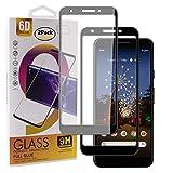 Guran [2 Pezzi Pellicola Vetro Temperato per Google Pixel 3A Smartphone Copertura Completa 9H Durezza Anti-Impronte HD Pellicola Protettiva - Nero