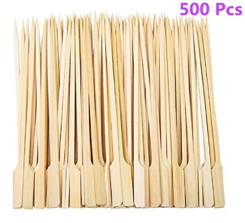 Diligencer 500 Stücke Bambus Paddel Spieße Natürliche Holzstäbchen für Barbecue Cocktail Kaffee Picknicks Im Freien Garten Buffets Catering Party Bar (20 cm)