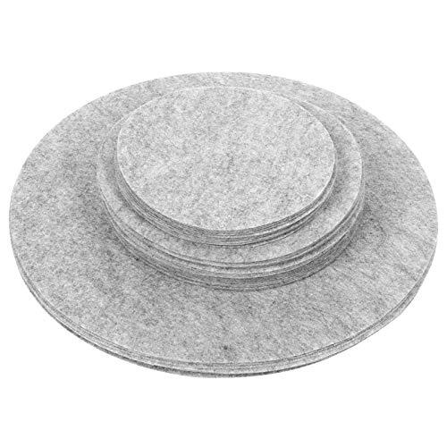 Alvinlite Separadores de Platos Protectores Divisor de Placas de Fieltro Vidrio Cerámica Protección para Utensilios de Cocina(Gris # 1)