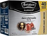 Café Fortaleza Platinium – Cápsulas Compatibles con Nespresso, de Aluminio, Descafeinado Forte, Sabor Intenso, Tueste Natural, Pack 4x40 - Total 160 uds