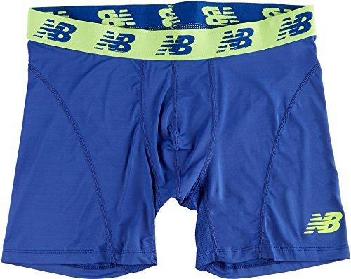 New Balance Men's Ice Boxer Brief, Marine Blue, Large