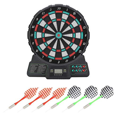 Elektronische Dartscheibe, Darts/Automatic Scoring Dart mit LED Digital Score Display Tipps Spielzeug Dart Dartboard Set Sound Reminding
