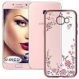 mtb more energy® Schutz-Hülle Bloomy für Samsung Galaxy A5 2017 (SM-A520, 5.2'') - Rose Gold - TPU Hülle Cover Tasche