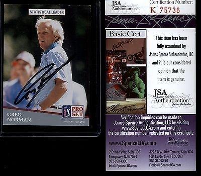 Best Prices! Greg Norman Signed Golf Card 1991 Pro Set K75736 - JSA Certified - Autographed Golf Equ...
