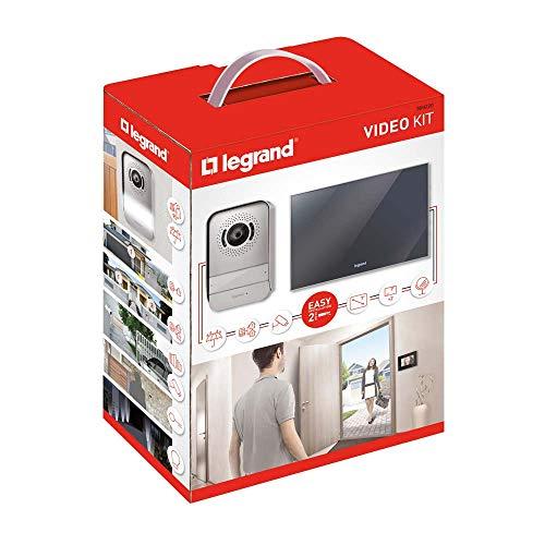 Legrand LEG369220 – Kit ouverture portier avec écran miroir 7'' – Interphone visiophone– 369220