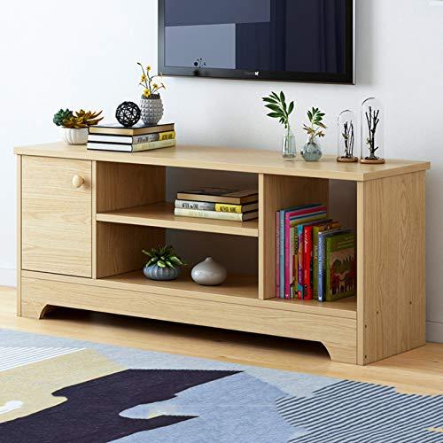 Mueble de TV Universal de Madera Maciza,Mesa Moderna del Gabinete de TV de La Consola Multimedia del Centro de Entretenimiento,Tabla Consola con Almacenamiento para Sala de Estar