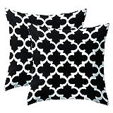 JOTOM Schwarz Weiß Kissenhülle/Geometrisches Muster Kissenbezug 45x45 cm für Kissen...