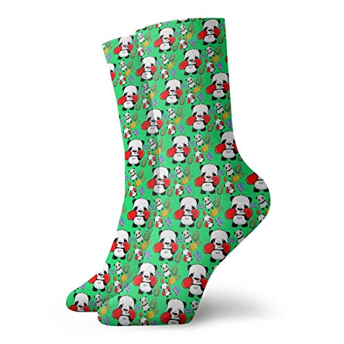 LLeaf Calcetines informales de tripulación Panda Boxer Calcetines de tobillo verdes Calcetines de compresión...