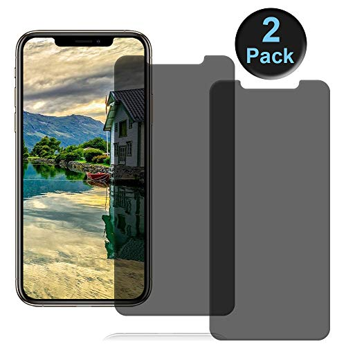 Revontulij Privacy Screen Protectors for iPhone XS/X/iPhone11 Pro [5.8 Inch] [2Pack] Tempered Glass Privacy Screen Protectors Compatible with iPhone Xs/X iPhone 11 Pro [9H Hardness] [No Bubble]
