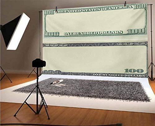 Fondo de vinilo para fotos de 12 x 10 pies, diseño de billetes de cien dólares con diseño de billetes de siglo de moneda americana, marco de fondo para niños baby shower, estudio de fotos