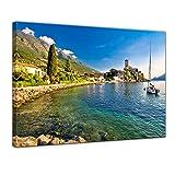 Bilderdepot24 Bild auf Leinwand   Malcesine am Gardasee in