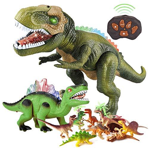 BFUNTOYS Remote Control Dinosaur, Walking Dinosaur and 9 Dinosaur...