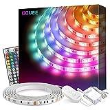 Govee RGB LED Strip, 5M Wasserdicht LED Streifen Lichtband mit Fernbedienung, Farbänderung LED Band...