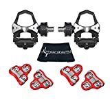 Wearable4U Favero Assioma Duo Pedal Based Cycling Power Meter with Extra Cleats Cleaning Cloth Bundle (Red (6 Degree Float))