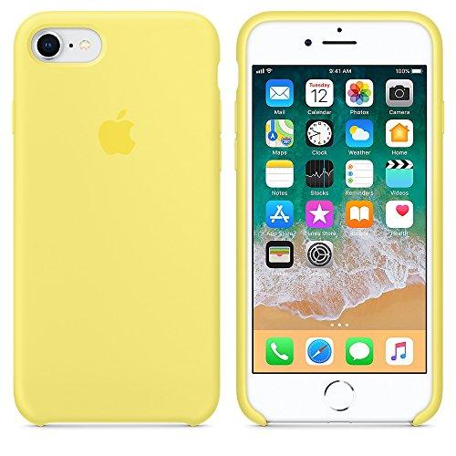 Funda para iPhone 7/8 Carcasa Silicona Suave Colores del Caramelo con Superfino Pelusa Forro,Anti-rasguños Teléfono Caso para Apple iPhone 7/8 (iPhone 7/8, Amarillo limon)