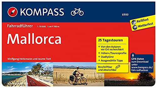 KOMPASS Fahrradführer Mallorca: Fahrradführer mit 25 Tagestouren, GPX-Daten zum Download und Routenkarten im optimalen Maßstab.
