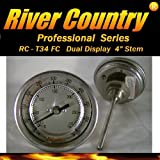 River Country 3' (RC-T34FC) Dual Range Adjustable F & C BBQ, Grill, Smoker, Thermometer