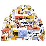 Central 23 - Papel de regalo para hombre - 6 hojas de regalo de cumpleaños - Para él - Tocadiscos - Retro - Para mujer - Reciclable