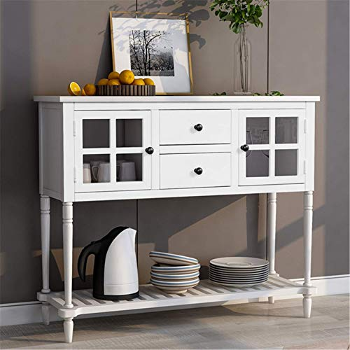 FTFTO Daily Equipment Sideboard Sideboard Console Table with Bottom Shelf Farmhouse Buffet...