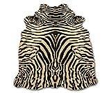 Zerimar Alfombra Piel de Vaca Natural Teñido Cebra | Medidas: 225x170 cm | Alfombra Salón | Alfombra Decoracion | Alfombra Dormitorio | Alfombra Natural