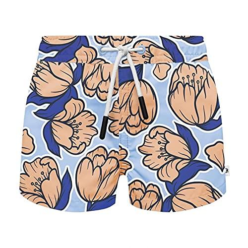 SEABASS Zwembroek - Trendy Zwemshort - Duurzaam - 100% Gerecycled Polyester - Gemaakt van Plastic Flessen uit de Oceaan - Seaqual - Zachte Binnenbroekjes - Zandvoort - Maat 128