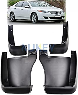 XUKEY Auto Molded Splash Guards for Acura TSX 2009 2010 2011 2012 2013 Mud Flaps - Front & Rear 4 Pieces Set