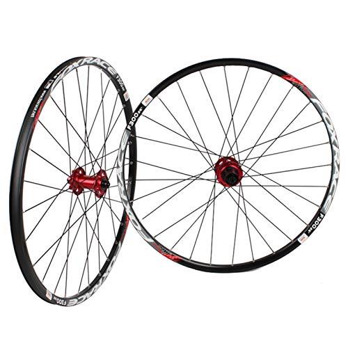 Rueda de Bicicleta para 26'27.5 29in MTB Wheelset Frontal y Trasero Doble Pared aleación Rim 6 Palin Cojinete de Disco Freno QR 1700G 7-11 Cassette de Velocidad Hub 24H (Color : B, Size : 26INCH)