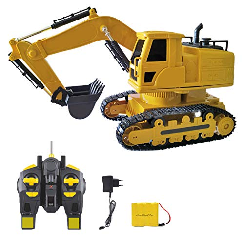 Sale!! Meet&sunshine Remote Control Bulldozer Toys Metal RC 10 Channels Front Loader Construction Tr...