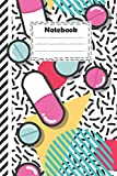 Notebook : pharmacy technician with pills and capsules seamless pattern: pharmacy technician Notebook pop modern design for write down ideas and gift ... much more ( size 6x9 inches college ruled )