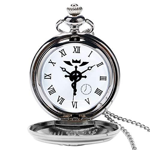 Steampunk Pocket Watch, Fullmetal Alchemist Snake Style Pocket Watches for Men, Necklace Pocket Watch Gift