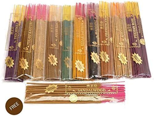 Free Sandalwood Variety Pack | 11 Incense Sticks Fragrances | Ik
