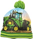 John Deere Boys' Little Winter Hat, Green, Toddler
